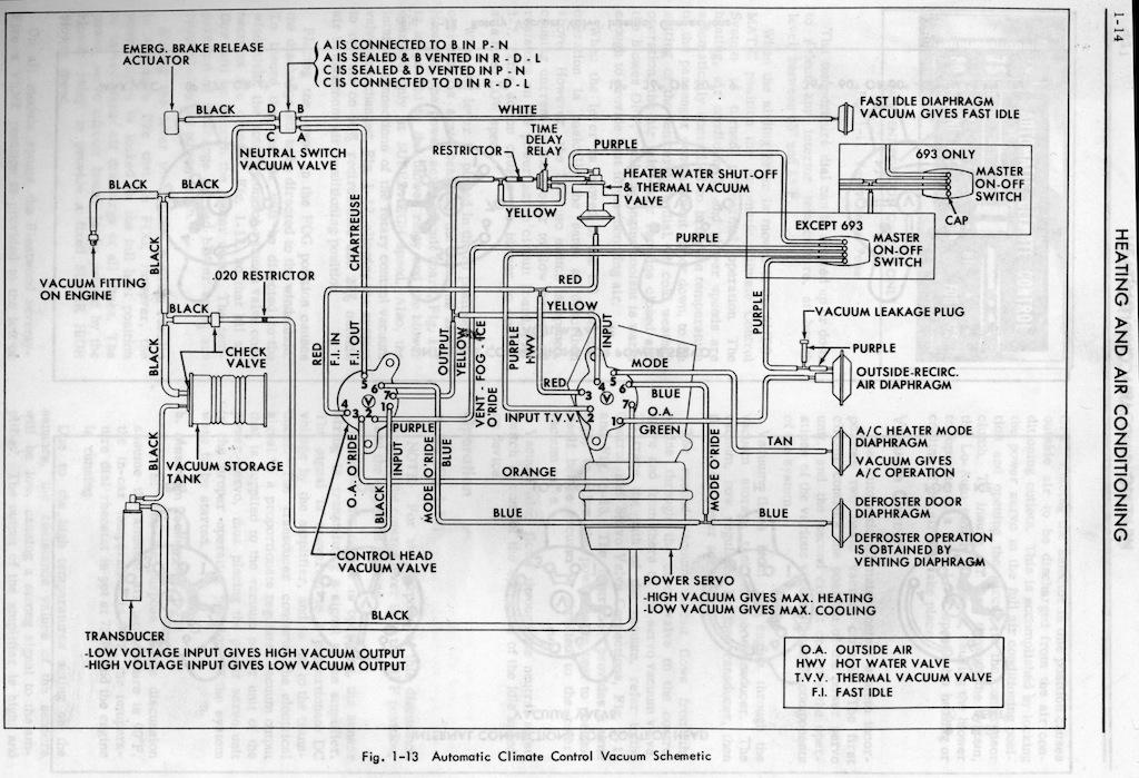 vacuum schematic geralds 1958 cadillac eldorado seville. Black Bedroom Furniture Sets. Home Design Ideas