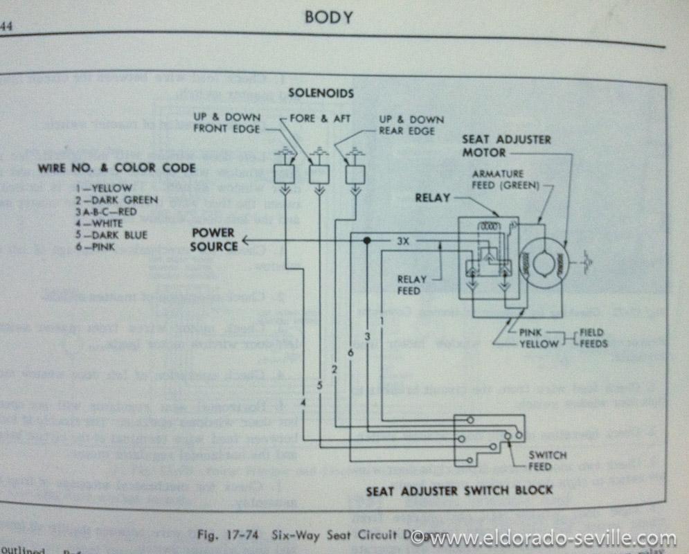 6 way power seat geralds 1958 cadillac eldorado seville